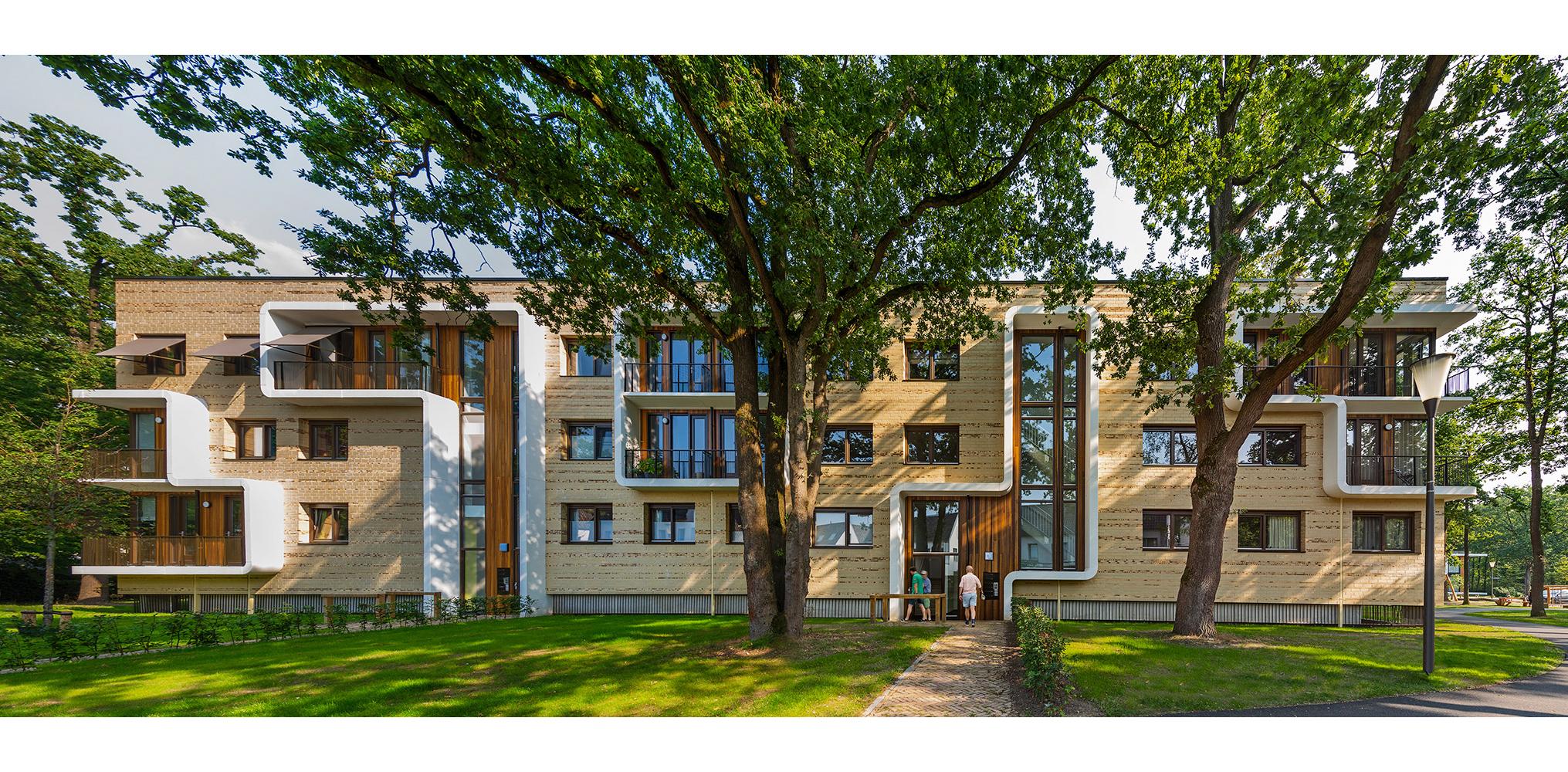 Simone Drost Architecture Planet Pab Architecture Appartementen Stdhouderspark Vught voorgevel overzicht entreegevel