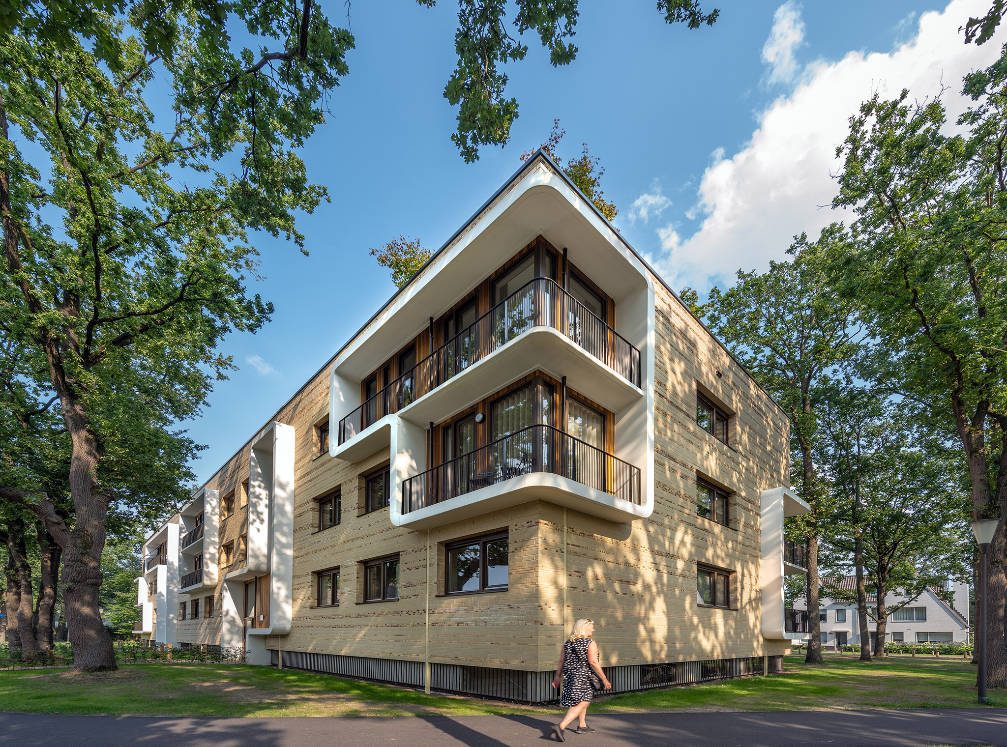 Simone Drost Architecture Planet Lab Architecture Appartementen Stadhouderspark Vught hoek boven balkons
