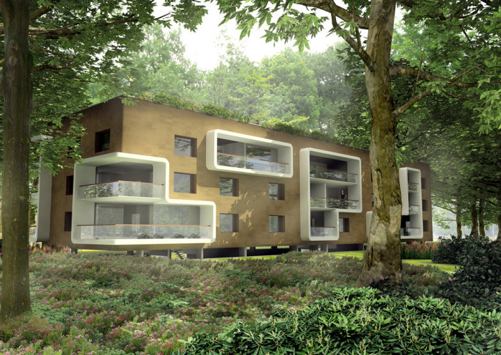 Planet Lab Architecture Simone Drost Architecture Stadhouderspark Vught appartementen impressie riet